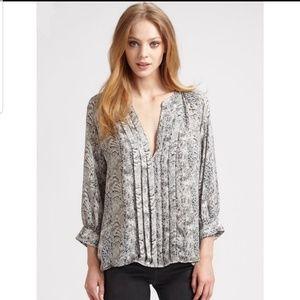 Joie Binney Medium 100% Silk Leopard Print Blouse